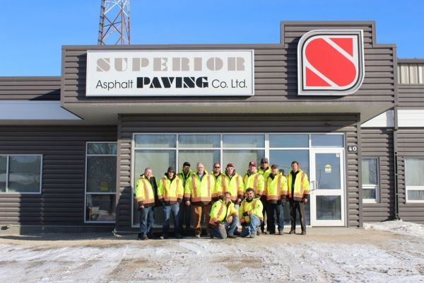 The Superior Asphalt snow clearing team
